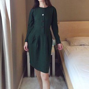 Anne Klein II 100% silk long sleeve dress.